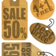 Sale Tags — Vector de stock