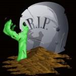 Zombie halloween background — Stock Vector