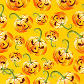 Seamless halloween pumkins pattern — Stock Vector