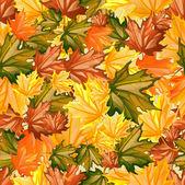 Seamless Autumn Leaves — Stock Vector
