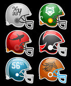 Football Helmets — Stock Vector