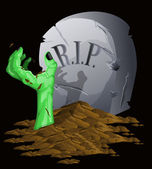 Fondo halloween zombie — Vector de stock