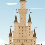 Cartoon castle — Stock Vector