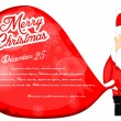 Santa Claus Christmas Background — Stock Vector