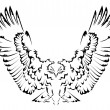 Abstract eagle tattoo — Stockvector #36812955