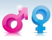 мужской женский символ — Cтоковый вектор