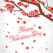 Valentine tree with hearts — Stock Vector #40161079