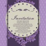 Decoretive invitation card — Stock Vector #40161203