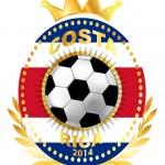 Soccer ball on Costa Rica flag — Stock Vector #40161625