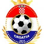 Soccer ball on Croatia flag — Stock Vector #40161627
