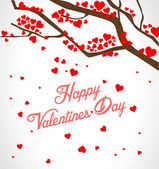 Valentine tree with hearts — Vector de stock