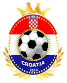 Soccer ball on Croatia flag — Stock Vector