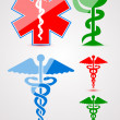 Stock Vector: Medical symbols set