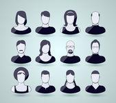 Avatar icons — Stock Vector