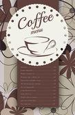 меню для кофейни — Cтоковый вектор