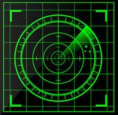 Schermo radar — Vettoriale Stock