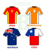 Brasilien 2014 gruppe b — Stockvektor