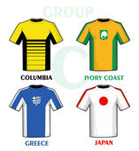 Brazil 2014 group C — Vector de stock