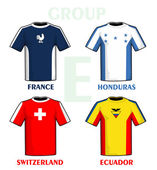 Brazil 2014 group E — Vector de stock