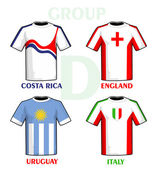 Brazil 2014 group D — Vector de stock