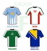 Brazil 2014 group F — Vector de stock