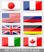 Flagi państw G8 — Wektor stockowy