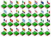 Banderines para el torneo de fútbol de 2014 — Vector de stock