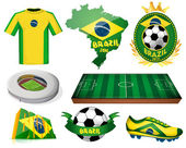 Brazil soccer vector illustration — Stock Vector