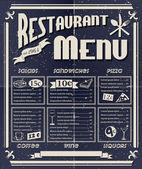 Vintage restaurant menu — Stock Vector