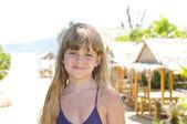 Beautiful girl portrait on the beach — Stock Photo