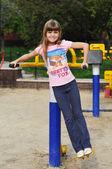 Portrait of girl doing fitness — Stock Photo