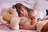 Portrait of sleeping girl — Stockfoto