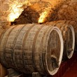 Old wine barrels,wine cellar — Stock Photo