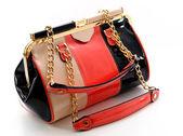 Leather handbag isolated on white background — Stock Photo