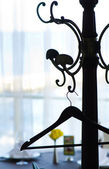 Percha vacía en el café — Foto de Stock