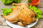 Cały pieczony kurczak — Zdjęcie stockowe