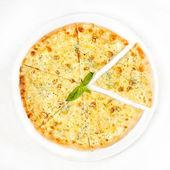 チキンとキノコのピザ — ストック写真