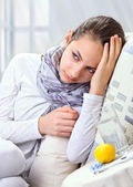 Sick Woman. — Stock Photo
