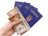 Oekraïense paspoort — Stockfoto