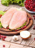 Raw chicken breast fillets — Stockfoto