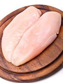 Raw chicken breast fillets — 图库照片