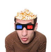 Watching a movie. — Stock Photo