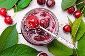 Cherry jam. — Stock Photo