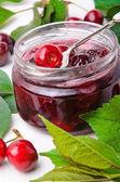 Cherry jam. — Stockfoto