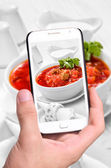 Photo red borsch — Stock Photo