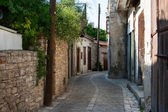 Narrow european village street — Stock Photo