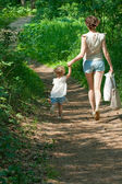 Mother and baby in the park — Stock Photo