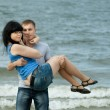 Loving young couple at sea — Stock Photo #39669049