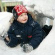 The boy in winter — Stock Photo