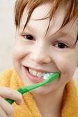 Brushing teeth — Stock Photo